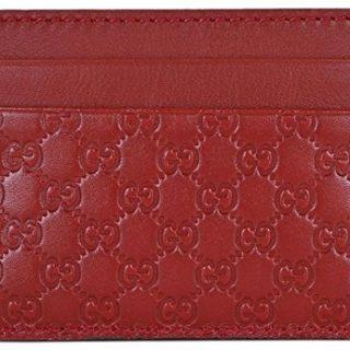 Gucci Leather Micro GG Guccissima Small Card Case (Rosso/Red)