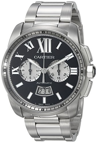 Cartier Men's Analog Display Swiss Automatic Silver Watch