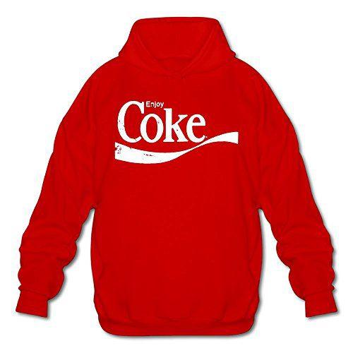 Enjoy Coke Men's Hipster Hooded Sweatshirt