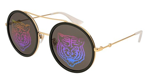 Gucci Green with Tiger Emblem Round Sunglasses