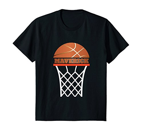 Kids Basketball Apparel Custom Name Maverick Youth Graphic Shirt