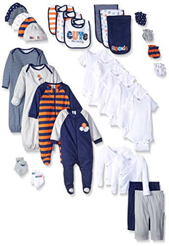 Gerber Baby 30 Piece Registry Essentials Gift Set, Sports, New Born