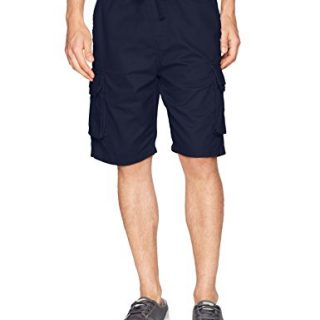 Southpole Men's Basic Twill Cargo Shorts, New Navy, 3X-Large