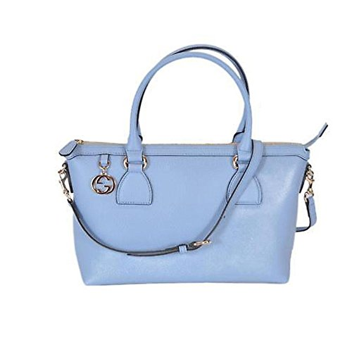 Gucci Mineral Blue Calf Leather GG Pendant Hobo Shoulder Bag