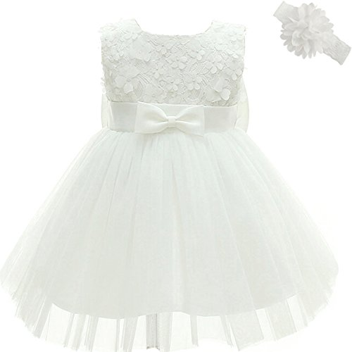Moon Kitty Baby Girl Dress Christening Baptism Gowns 3D Flower Girl Dress
