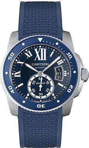 Cartier Calibre Diver Automatic Blue Dial Mens Watch