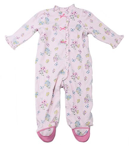 Little Me Girls' Size 9 Months One-Piece Sleepwear, Pink Print
