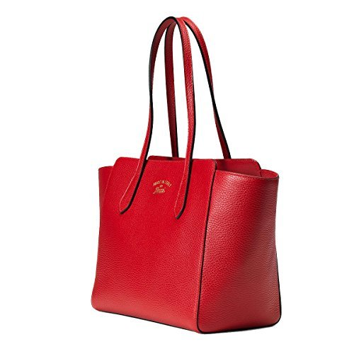 Gucci Women's Red Leather Small Swing Shoulder Tote Handbag