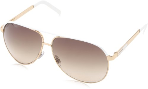 Gucci 1827/S Aviator Sunglasses,Gold Frame/Brown Grey Gradient Lens,One Size