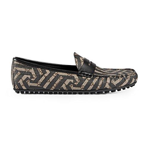 Gucci Men's GG Supreme Caleido Driver Loafer, Beige/Black (10.5 US/10 UK)
