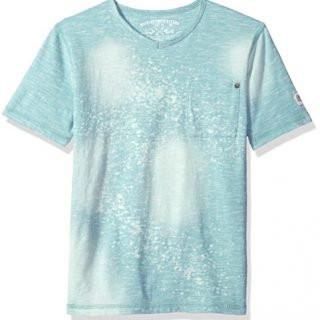 Buffalo by David Bitton Big Boys' Short Sleeve Tee Shirt, Sauto Botanical Blue, Small (8)