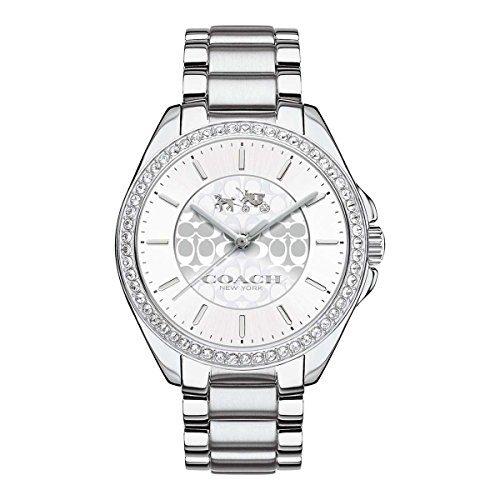 Coach Womens Tristen Signature Stainless Bracelet Glitz Watch