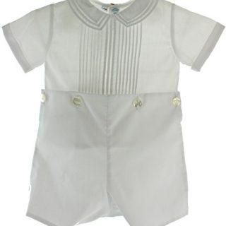 Boys White Christening Baptism Bobbie Suit Outfit