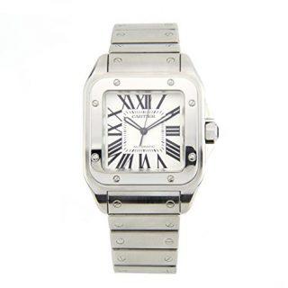 Cartier Santos 100 Stainless Steel Men's Watch 2656 (Certified Pre-owned)