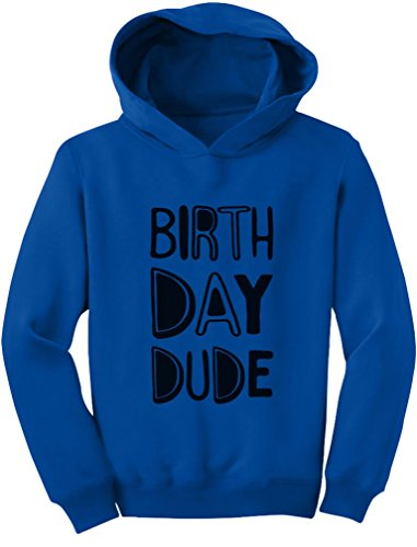 Tstars Gift for Birthday Boy - Birthday Dude Party Toddler Hoodie 2T Blue