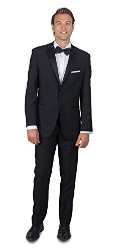 Alain Dupetit Men's Men's Black Tuxedo 36R Black
