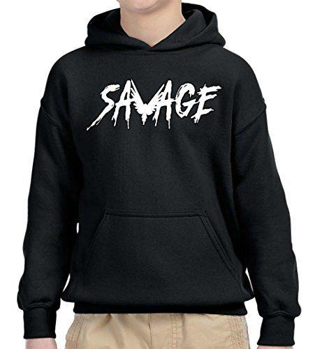 Youth Hoodie Savage Maverick Logang Logan Paul Unisex Pullover Sweatshirt Small Black