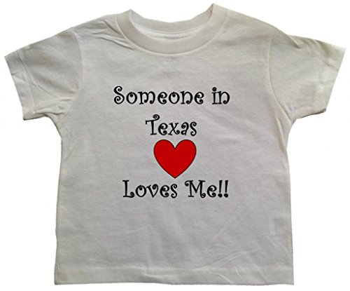 SOMEONE IN TEXAS LOVES ME - TEXAS TODDLER - State-series - White Toddler T-shirt - size Medium (3T)