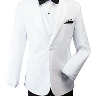 Spring Notion Baby Boys' Modern Fit Tuxedo Set, No Tail 4T White Jacket/Black Pants