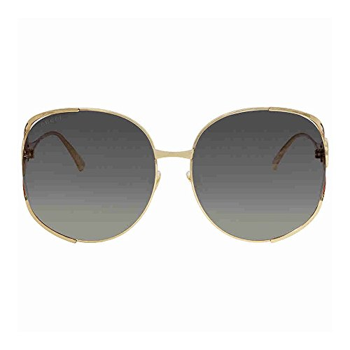 Gucci Gold Round Sunglasses Lens Category 3 Size 63mm