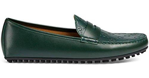 Gucci Men's Signature Driver, Green (Verde) (9.5 US/9 UK)