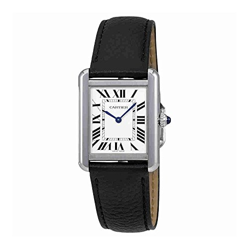 Cartier Tank Solo Silvered Light Opaline Dial Ladies Watch