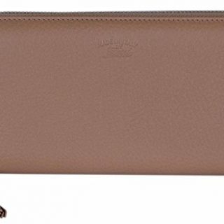 Gucci Women's Beige Leather Trademark Logo Zip Around Wallet