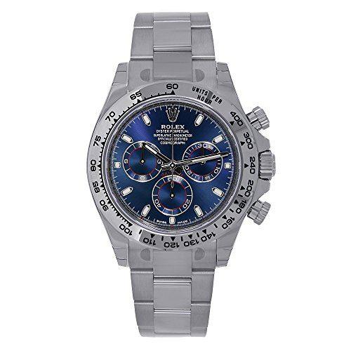 Rolex Cosmograph Daytona 18K White Gold 40mm Blue Dial Watch