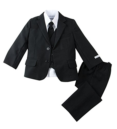 Spring Notion Baby Boys' Modern Fit Dress Suit Set Large/12-18M Black