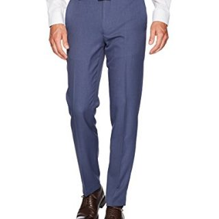 Van Heusen Men's Traveler Slim Fit Pant, Ash Navy, 30W X 32L