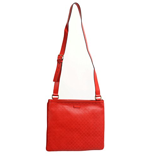 Gucci 100% Leather Red Women's Cross Body Shoulder Bag