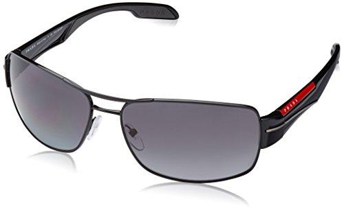 Prada Linea Rossa Men's Sunglasses Black / Polar Grey Gradient 65mm