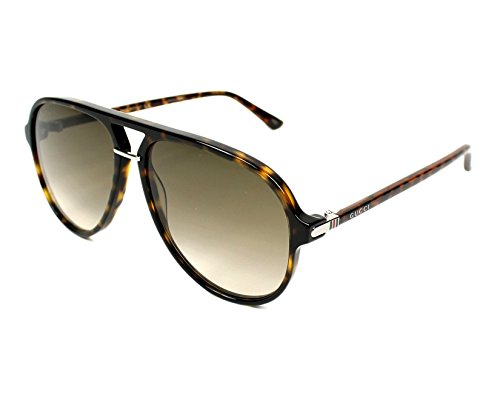 Gucci Pilot Shape Fashion Sunglasses, 58/14/140, Avana / Brown / Avana