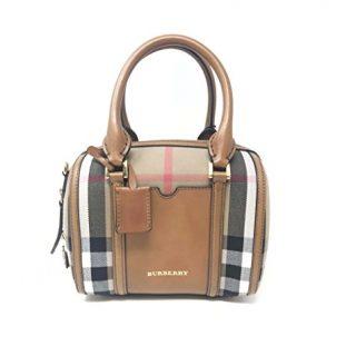 Burberry Small House Check Sartorial Bowling Bag