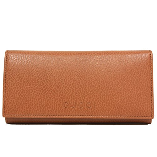 Gucci Saddle Brown Cognac Leather Continental Flap Wallet