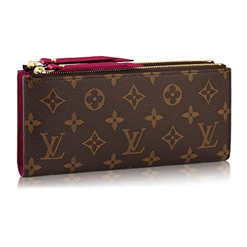Louis Vuitton Monogram Canvas Adele Wallet Fuchsia Made in France