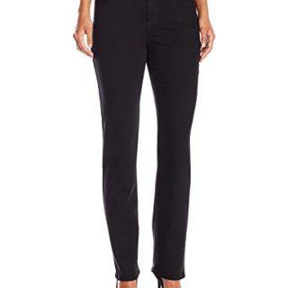 Bandolino Women's Petite Mandie 5 Pocket Jean, Saturated Black, 14P