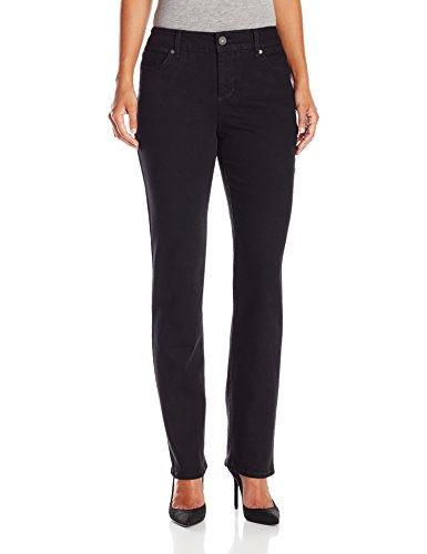 Bandolino Women's Petite Mandie 5 Pocket Jean, Saturated Black, 14P