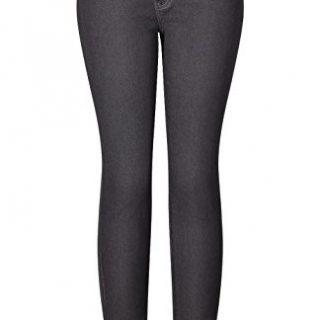 2LUV Women's Stretchy 5 Pocket Destroyed Medium Denim Skinny Jeans Grey 17