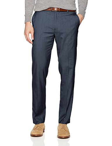 Van Heusen Men's Air Straight Fit Pant, Blue Haze, 36W X 32L