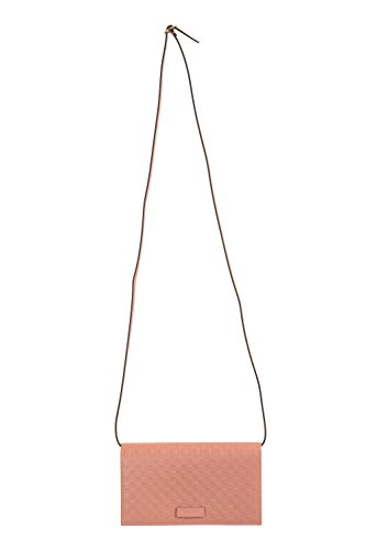 Gucci Women's Guccissima Leather Rose Pink Shoulder Crossbody Clutch Bag