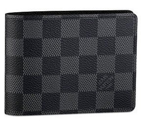 Authentic Louis Vuitton LV Damier Graphite Canvas Multiple Wallet Black/Grey