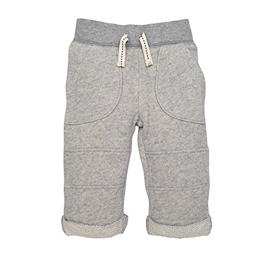 Burt's Bees Baby Baby Boys' Organic Knit Pant, Heather Grey Loop Terry, 0-3 Months
