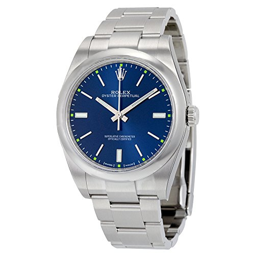 Rolex Oyster Perpetual Blue Dial Stainless Steel Automatic Mens Watch