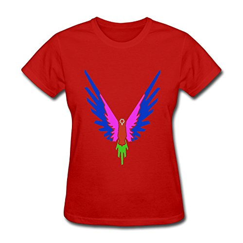 Christina W. Halle Women's Spring Fashion T-Shirt Short Sleeve Logan Paul Logo Customization Red