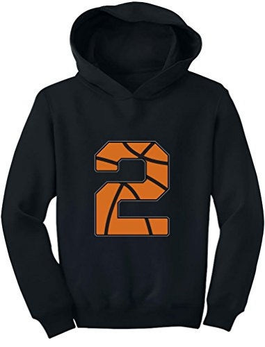 TeeStars - Basketball 2nd Birthday Gift for Two Year Old Toddler Hoodie 2T Black