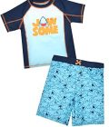 'Baby Buns Boy's 2-Piece Rash Guard Bathing Suit Set, Jaws, Size 5'