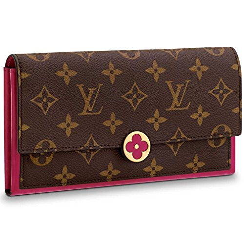 Louis Vuitton Monogram Canvas Wallet Flore Wallet Fuchsia Article: M64585 Made in Spain