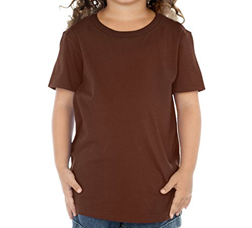 Kavio Toddlers Crew Neck Short Sleeve Tee Brown 3T
