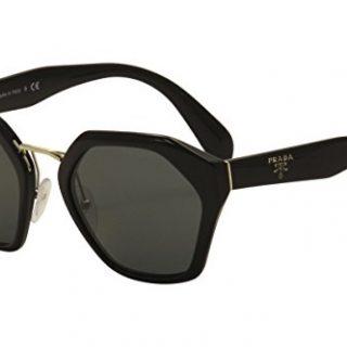 Prada Round Sunglasses, Black, 55mm